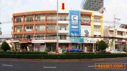 ขายตึกแถว 4 ชั้น ติดถนนใจกลางเมืองหัวหิน ทำเลดีมาก ใกล้ห้าง ใกล้โรงพยาบาลกรุงเทพ-หัวหิน