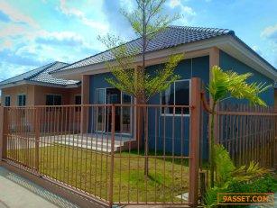 ขายบ้านใหม่ชั้นเดียวราคาถูก พร้อมเข้าอยู่ 3 ห้องนอน 2 ห้องน้ำ จอดรถได้ 1 คัน