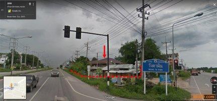 บ้านเดี่ยว 276 วา ติดถนนใหญ่ ทล. 3191  แยกวังตาผิน  กลางเมืองปลวกแดง ระยอง