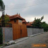 รหัสC1460  ให้เช่าบ้านทรงไทยย่านรังสิตคลอง2 บ้านใหม่บรรยากาศร่มรื่น