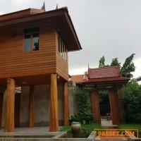 รหัส R586  บ้านทรงไทย ให้เช่า ย่านรังสิตคลอง2 บ้านใหม่บรรยากาศร่มรื่น