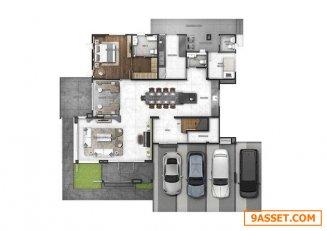 ขาย บ้านเดี่ยวสุดหรูย่านพระราม 9 5ห้องนอน 6ห้องน้ำ ขนาด 608ตร.ม