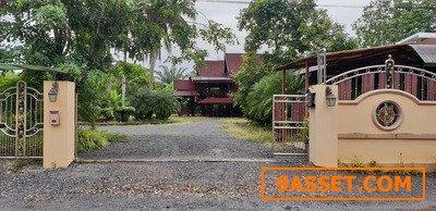 ขายบ้านเรือนไทย + เรือนรับรอง พร้อมที่ดิน 1-1-86 ไร่ สุราษฎร์ธานี