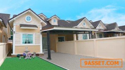 ขาย บ้านแฝด โครงการใหม่ นิสาสิริ เขาคันทรง ศรีราชา   105 ตรม.  48 ตร.วา ราคาถูกกว่าราคาประเมิน