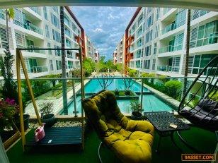 ขายด่วน!! ลด 1.5 ล้าน คอนโด The Breeze Condominium ติดชายหาดเขาตะเกียบแค่ 100 เมตร เดินแปปเดียวถึงชายหาดเลย