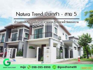 Natura Trend เนเชอร่า เทรนด์ ปิ่นเกล้า-สาย 5 บ้านแฝดหลังริม 3 ห้องนอน 2 ห้องน้ำ 2 จอดรถ