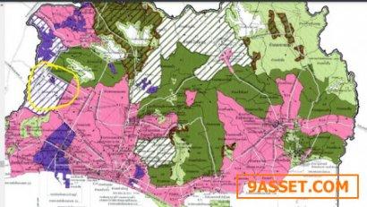 ขายที่ดินเปล่าพื้นที่สีม่วง สร้างโรงงานได้ เนื้อที่ 11-2-95 ไร่ ถนนสาย 36 อำเภอพัฒนานิคม ระยอง