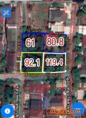 ที่ดินเมืองเชียงใหม่ เทศบาลท่าศาลา เนื้อ 119 ตรว. อ.เมืองเชียงใหม่  จ.เชียงใหม่
