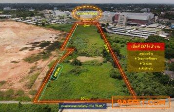 ขายถูกที่ดิน อ.เมืองพิษณุโลก—(หลัง Central Plaza) 10 ไร่ 2 งาน #หน้ากว้าง 50 m. ถนนกว้าง 6 m. เหมาะสร้างโครงการจัดสรร+ โรงแรม + สำนักงาน