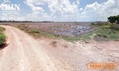 R070-294 ขายที่ดินเปล่า 9 ไร่ ติดคลองแม่ลา วิวและทำเลสวยมาก อ.เมือง สิงห์บุรี
