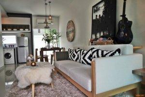 สัมผัส Resort Townhome บ้านพร้อมอยู่ ตกแต่งครบ เฟอร์นิเจอร์บิวท์อิน แอร์ ครัว หิ้วกระเป๋าเข้าอยู่ได้เลย
