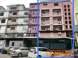 อาคารพาณิชย์ 4 ชั้น 3 ห้อง เนื้อที่รวม 42 ตารางวา ติดถนนงามวงศ์วาน นนทบุรี
