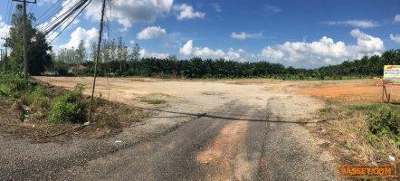 ขายที่ดิน ถมแล้ว ติดถนนเพชรเกษม ท่าแซะ ชุมพร หน้ากว้าง 100 เมตร 10 ไร่ ต่ำกว่าราคาประเมิน