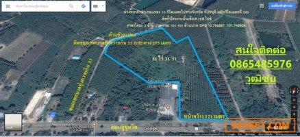 ที่ดิน51ไร่31วา-หน้ากว้าง121เมตร-ติดถนนสุขุมวิท-ทุ่งควายกิน-แกลง-ระยอง-ติดต่อ เอก 0865485976