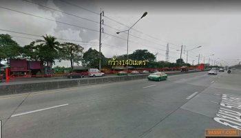 NK-013 ขายที่ดินติดถนนใหญ่ร่มเกล้า-มีนบุรี เขตมีนบุรี หน้ากว้างประมาณ 140 เมตร