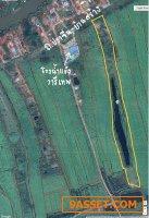 ที่ดิน18ไร่ ติดถนนปราจีนบ้านสร้าง ใกล้ๆโรงน้ำแข็งวารีเทพ