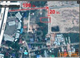 ที่ดินเปล่าติดดครงการจัดสรร เนื้อที่ 103  ตร.ว. ต.ชะอำ เพชรบุรี