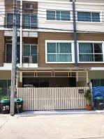 ขายบ้าน ทาวโฮม3ชั้น วิลเลจซิตี้ พัฒนาการ38 ราคา 3,850,000  บาท
