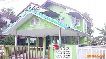 63053 ขาย บ้านเดี่ยว 2 ชั้น หมู่บ้าน เคียงคลอง 1 ธัญบุรี  คลอง 9 เนื้อที่ 101 ตารางวา