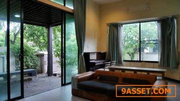 ขายบ้านเดี่ยวราบดินทร์ รังสิต เมืองปทุมธานีหลังมุม 77 วา 3 นอน 2 น้ำ สวย