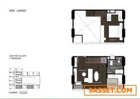 ขายดาวน์คอนโด โครงการ Conner Ratchathewi ห้องสวย สไตล์Loft ชั้นสูง วิวไม่บล็อควิว ส่วนลด 450000
