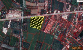 ขายที่ดิน 18 ไร่ ริมถนนศาลายา-นครชัยศรี ใกล้เซ็นทรัลศาลายา ผังเมืองสีชมพู