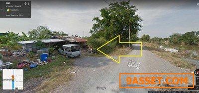 ขายที่ดินติดถนนลาดยาง คลอง 10 หนองเสือ 50 ไร่  ทำเลดี  ใกล้แหล่งชุมชน
