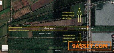 ขายที่ดิน หนองเสือ คลอง12  ติดถนนลาดยางเรียบคลอง (ทางหลวง 3025)  เนื้อที่ 36 ไร่ ราคาถูก ทำเลดี