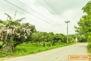 ขายที่ดินติดถนนข้วยขวาง ใกล้ถนนเลี่ยงหนองมน พื้นที่สีเหลือง เหมือง เมืองชลบุรี