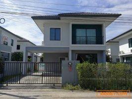 62650  ขาย บ้านเดี่ยว 2 ชั้น หมู่บ้าน พฤกษาดีไลท์ บางพลี สมุทรปราการ บ้านใหม่ พร้อมครัว บิ้วอิน