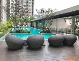 For Sale!  Condo Aspire Rama 4 1 bed fully furnished near BTS Eakkamai