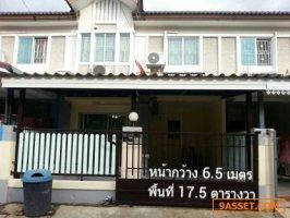 ขายบ้านทาวเฮาส์ 17.5 ตร.วา ราคา 1.78 ล้านบาท  หมู่บ้านพฤกษาวิลล์ 19
