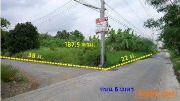 ขายที่ดิน 2แปลงติดกัน เนื้อที่รวม 187.5 ตรว. ถมแล้ว ห่างถนนราชพฤกษ์ 80 เมตร ใกล้รถไฟฟ้าสายสีม่วง