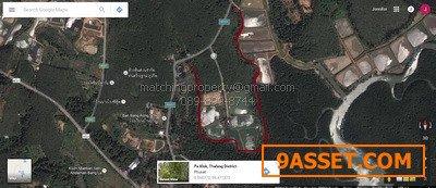 ขายที่ดิน ภูเก็ต 30 ไร่ ป่าคลอก ถลาง ติดถนนสายหลัก 4007 ไร่ละ6ล้าน