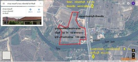 ให้เช่าที่ดินติดถนนกบินทร์บุรี-ปักธงชัย  098 101 9878