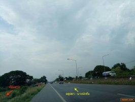 ขายที่ดิน 6 ไร่ ติดถนนปทุมธานี- บางปะหัน (ทล.347) 098 101 9878