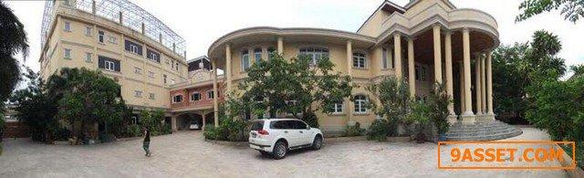 ขายบ้านและอาคารพาณิชย์ พื้นที่ โดยรวม เกือบ 2 ไร่ ปากน้ำ ท้ายบ้าน สมุทรปราการ