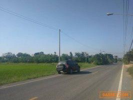 ขายที่ดินติดถนนลำลูกกาคลอง 9  ปทุมธานี  ห่างจากถนนลำลูกกา ประมาณ 3.8 กม. เนื้อที่ 25 ไร่