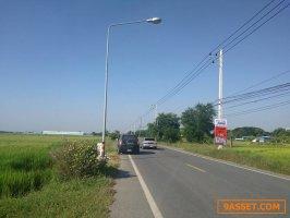 ขายที่ดินติดถนนลำลูกกาคลอง 9  ปทุมธานี (2 ฝั่งของถนนลำลูกกาคลอง9) เนื้อที่รวม 25  ไร่