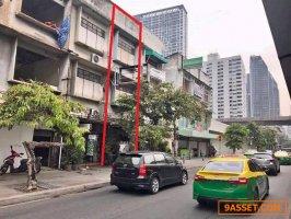 C0363 ขายอาคารพาณิชย์ 3 ชั้น ริมถนนเพชรบุรี ใกล้รถไฟฟ้าBTSราชเทวี 200 เมตร