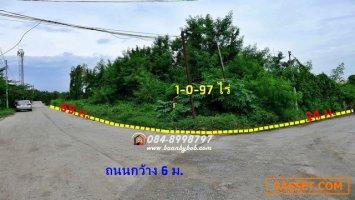 ขายที่ดิน บางกรวย นนทบุรี ถนนพระราม5 นครอินทร์ 497 ตารางวา แปลงมุม ใกล้ตลาดสดพระราม5