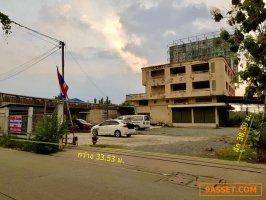 ขายที่ดินทำเลดี พร้อมอาคารพาณิชย์ 4 คูหา ติดถนน 2 ด้าน ถ.ศรีสมาน นนทบุรี 560 ตร.ว ใกล้รร.นวมินทราชินูทิศ หอวัง