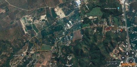 ขายที่ดินติดถนนเลี่ยงเมืองกาญจนบุรี 46 ไร่ บรรยากาศดี ติดถนน ใกล้ห้าง สะดวกสบาย