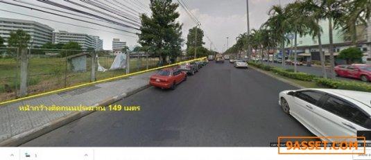 C0409 ขายที่ดินพร้อมสิ่งปลูกสร้าง 11 ไร่ ถนนสายลวด ใกล้โรงพยาบาลสมุทรปราการ
