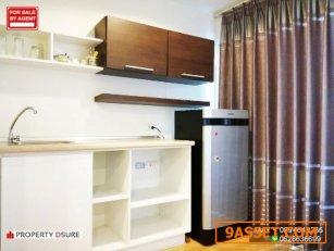 ขายถูกมาก ห้องใหญ่ ห้องมุม 26.5 ตรม ชั้น 5 ตึก A1 ทิศใต้ เฟอร์ครบ สภาพดี คอนโด ลุมพินี วิลล์ อ่อนนุช 46 ห้องสวย