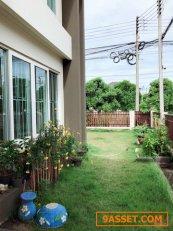 ขายบ้านเดี่ยวหลังหัวมุม บ้านซื่อตรงธัญบุรี คลอง6 หมู่บ้านที่ถนนหลักธัญบุรีใกล้ Big C