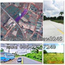 ขายที่ดิน6ไร่2งาน22ตรว.ที่ดินติดถนนพนัสนิคม-เกาะโพธิ์(ทล.3246) ใกล้ถนนวงแหวนเลี่ยงเมืองพนัสนิคม