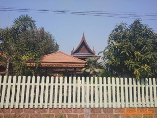 ขายบ้านทรงไทยโบราณใต้ถุนสูง พร้อมที่ดิน 200 ตารางวา 3ห้องนอน 2ห้องน้ำ 1ห้องครัว