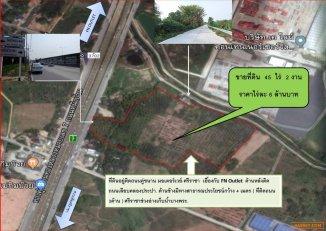 ขายที่ดิน ศรีราชา 45 ไร่ 2 งาน ติดถนนมอเตอร์เวย์-ศรีราชา ชลบุรี Land for sale in Sriracha, 45 rai 2 ngan, next to motorway road - Sriracha, Chonburi