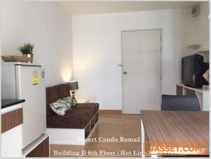 Sale คอนโด 1 ห้องนอน สภาพสวยใกล้ Central พระราม2 ผ่อนเพียง 6,000-7,000 บาทต่อเดือน รีบด่วน